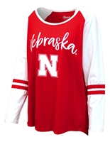 Nebraska Gals Stripe Sleeve Raglan Nebraska Cornhuskers, Nebraska  Ladies Tops, Huskers  Ladies Tops, Nebraska  Ladies, Huskers  Ladies, Nebraska  Long Sleeve, Huskers  Long Sleeve, Nebraska Nebraska Gals Stripe Sleeve Raglan, Huskers Nebraska Gals Stripe Sleeve Raglan