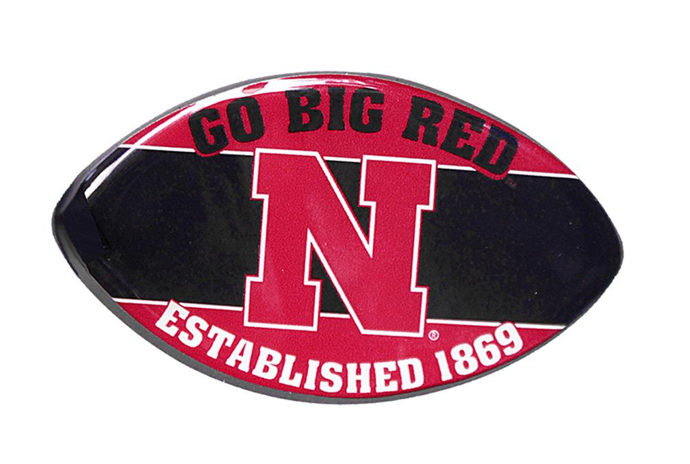 Nebraska Go Big Red Football Magnet