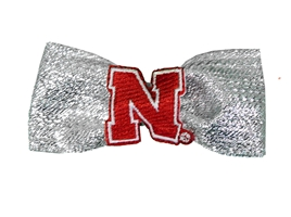 Nebraska Metallic Hair Bow Nebraska Cornhuskers, Nebraska  Infant, Huskers  Infant, Nebraska  Kids, Huskers  Kids, Nebraska Nebraska Metallic Hair Bow, Huskers Nebraska Metallic Hair Bow