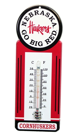 Nebraska Mounted Thermometer Nebraska Cornhuskers, Nebraska  Patio, Lawn & Garden, Huskers  Patio, Lawn & Garden, Nebraska Nebraska Mounted Thermometer, Huskers Nebraska Mounted Thermometer