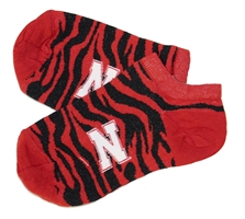 Nebraska N Zebra Stripe No Show Sock Nebraska Cornhuskers, Nebraska  Footwear, Huskers  Footwear, Nebraska  Underwear & PJS, Huskers  Underwear & PJS, Nebraska  Ladies Accessories, Huskers  Ladies Accessories, Nebraska  Mens Accessories , Huskers  Mens Accessories , Nebraska Nebraska N Zebra Stripe No Show Sock, Huskers Nebraska N Zebra Stripe No Show Sock