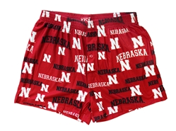 Nebraska Stretch Knit Boxers Nebraska Cornhuskers, Nebraska  Mens Underwear & PJ's, Huskers  Mens Underwear & PJ's, Nebraska  Underwear & PJ's, Huskers  Underwear & PJ's, Nebraska Nebraska Print Fairway Knit Boxer Concepts, Huskers Nebraska Print Fairway Knit Boxer Concepts