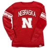 Nebraska Youth Jersey Stripe Sleeve Tee Nebraska Cornhuskers, Nebraska  Youth, Huskers  Youth, Nebraska Red LS Jersey Stripe Sleeve Tee WW, Huskers Red LS Jersey Stripe Sleeve Tee WW