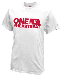 One State N One Heartbeat Give-Back White Tee Nebraska Cornhuskers, Nebraska  Mens, Huskers  Mens, Nebraska  Short Sleeve, Huskers  Short Sleeve, Nebraska  Mens T-Shirts, Huskers  Mens T-Shirts, Nebraska One State N One Heartbeat Give-Back White Tee, Huskers One State N One Heartbeat Give-Back White Tee