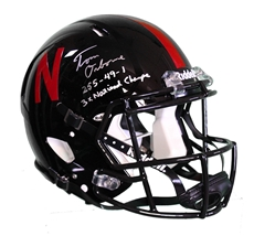 Osborne Autographed Alternate Speed Helmet - 38 Trap Play Nebraska Cornhuskers, husker football, nebraska cornhuskers merchandise, husker merchandise, nebraska merchandise, husker memorabilia, husker autographed, nebraska cornhuskers autographed, Tom Osborne autographed, Tom Osborne signed, Tom Osborne collectible, Tom Osborne, nebraska cornhuskers memorabilia, nebraska cornhuskers collectible, Autographed Osborne Photo