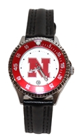Womens Competitior Leather Band Watch Nebraska Cornhuskers, Nebraska  Ladies Accessories, Huskers  Ladies Accessories, Nebraska  Ladies, Huskers  Ladies, Nebraska  Watches Bands & Buckles, Huskers  Watches Bands & Buckles, Nebraska Womens Competitior Leather Band Watch, Huskers Womens Competitior Leather Band Watch