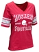 Womens Huskers Football Blue Blood Tee - AT-C5042