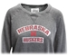 Womens Nebraska Huskers Burnout Crew - AS-C3059