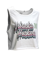 Womens Nebraska Huskers Cropped Good Vibes Tank Nebraska Cornhuskers, Nebraska  Tank Tops, Huskers  Tank Tops, Nebraska  Ladies T-Shirts, Huskers  Ladies T-Shirts, Nebraska  Ladies, Huskers  Ladies, Nebraska Womens Nebraska Huskers Cropped Good Vibes Tank, Huskers Womens Nebraska Huskers Cropped Good Vibes Tank