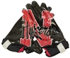 Youth Dirt N Blood Receiver Gloves Nebraska Cornhuskers, Nebraska  Youth, Huskers  Youth, Nebraska Youth Black Red Reciever Gloves, Huskers Youth Black Red Reciever Gloves