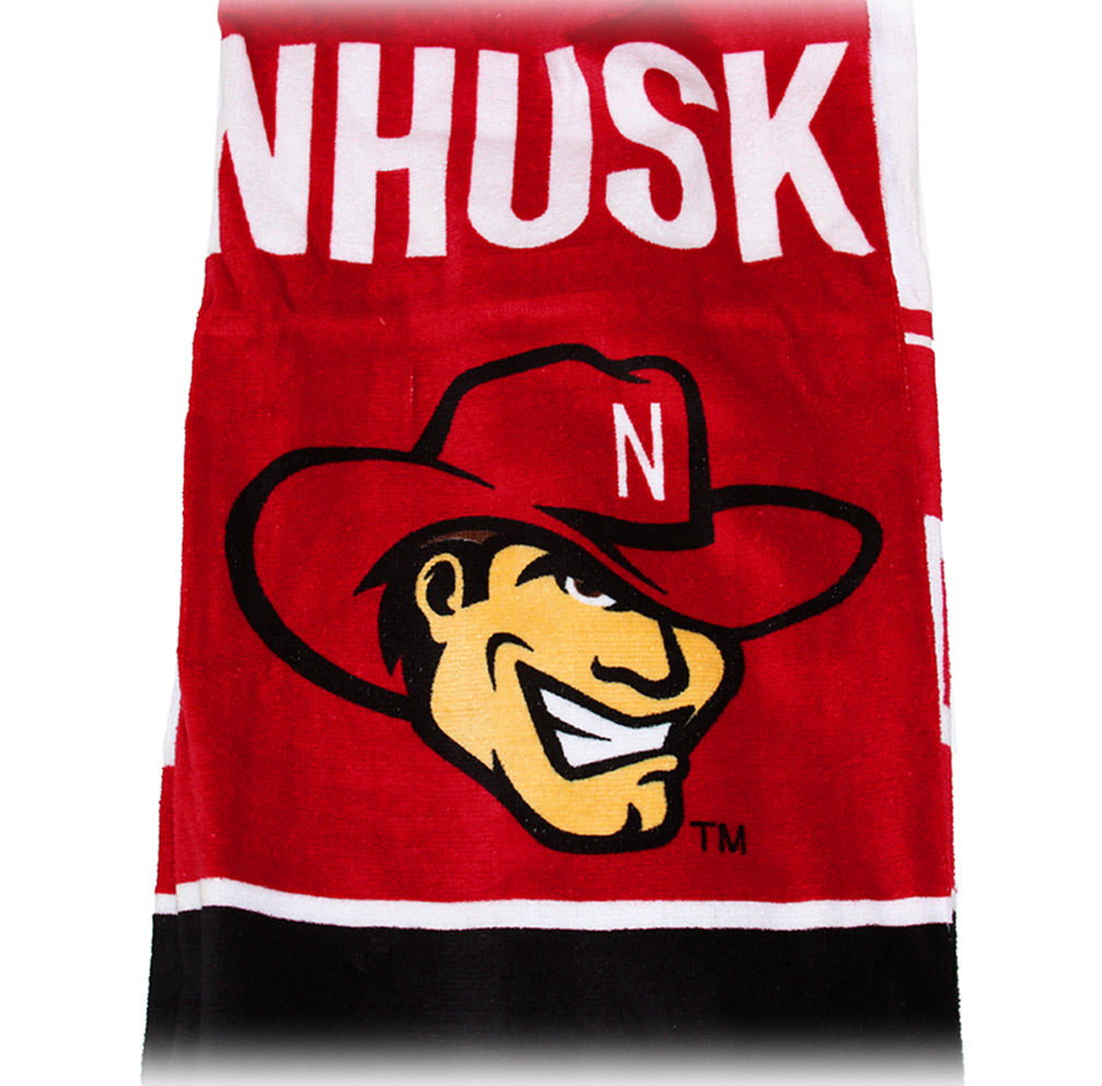 Game Day Sweat Towel: Nebraska Herbie Beach Towel