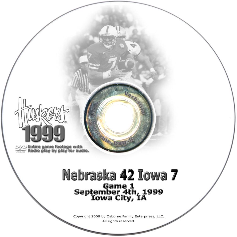 1999 huskers vs iowa hawkeyes for Cooks jewelry iowa city
