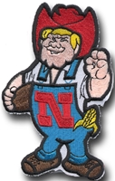 3 Inch Herbie Patch Nebraska Cornhuskers, 3 inch Herbie Patch