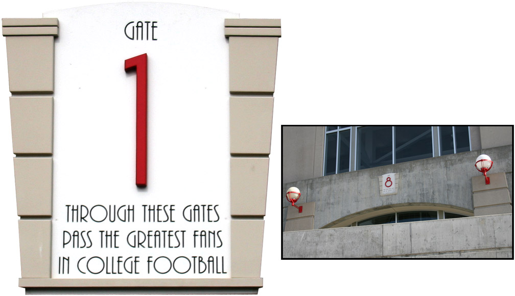 Memorial Stadium Entry Sign