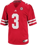 Adidas No. 3 Replica Nebraska Football Jersey