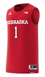2018 Adidas Huskers Away Basketball Jersey No. 1