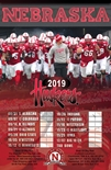 2019 Nebraska Football Schedule Poster