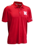 Adidas 2019 Huskers 3 Stripe Spring Polo