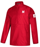 Adidas 2019 Nebraska Coaches Official Sideline Quarter Zip - Red