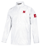 Adidas 2019 Nebraska Coach Frost Official Sideline Quarter Zip - White