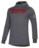 Adidas Buster Boy Game Mode Huskers Hoodie - Grey
