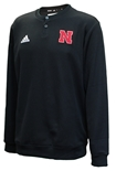 Adidas 2020 Nebraska Button Up Coaches Sweater - Black