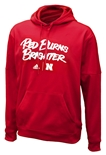 Adidas Huskers Red Burns Brighter Deluxe Fleece Hoody