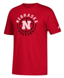 Adidas Center Court Nebraska Basketball Tee