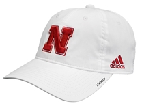 Adidas Huskers 2020 Coaches Slouch Adj Hat - White