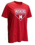 Adidas Huskers Baseball Going Yard Tee