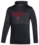 Adidas Huskers Locker Room Hoodie - Black