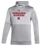 Adidas Huskers Locker Room Hoodie - Grey