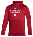 Adidas Huskers Coach Frost Sideline Hoodie - Red