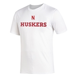 Adidas Huskers Numbers Amped Tee
