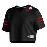 Adidas Ladies Nebraska Football Crop Jersey - Black