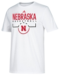 Adidas Nebraska Basketball Tip-Off Tee
