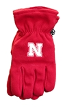 Adidas Nebraska Fleece Gloves - Red