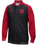 Adidas Nebraska Black Button Up Jacket