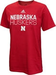 Adidas Nebraska Huskers Locker Amped Tee