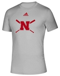 Adidas Nebraska Softball Amped Tee