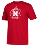 Adidas Nebraska Sports Basketball Tee