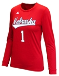 Adidas Nebraska Volleyball Replica Away Jersey Top