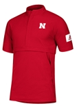 Adidas Nebraska Woven Game Mode S/S Quarter Zip - Red