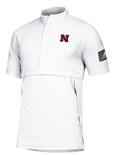 Adidas Nebraska Woven Game Mode S/S Quarter Zip - White