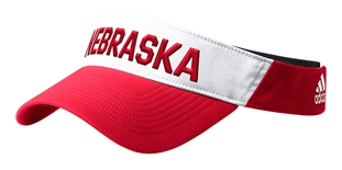 Adidas Official 2019 Coaches Nebraska Thin Visor - Red N White