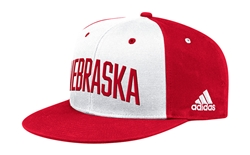 Adidas Official 2019 Nebraska Players Flat Brim Lid