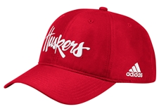 Adidas Official 2019 Sideline Coaches Huskers Slouch Cap - Red