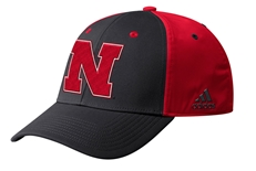 Adidas Official 2019 Sideline Coaches Nebraska Flex Hat - Black N Red