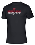 Adidas On Court Nebraska Basketball Tee - Black