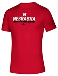 Adidas On Court Nebraska Basketball Tee - Red
